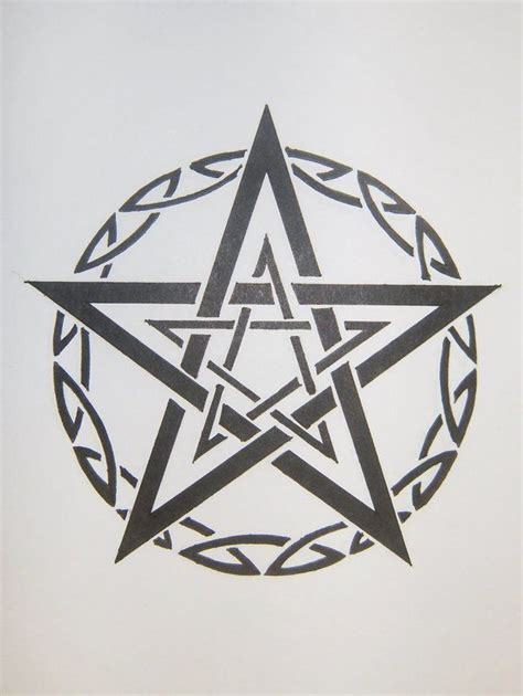 pentacle tattoo designs tribal pentagram by magpievon deviantart on