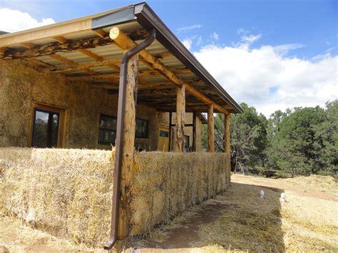 grid straw bale home manzano new mexico paja