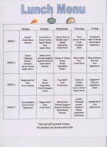 Preschool Menu Template by 8 Best Images About Meal Plans On Day