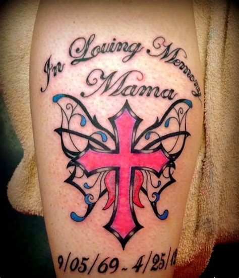 in loving memory cross tattoos 22 amazing memorial tattoos