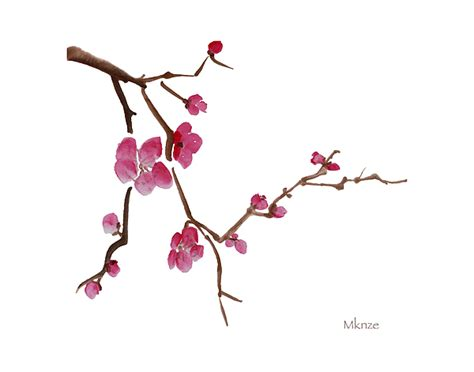 cherry blossoms 1a painting by mckenzie leopold