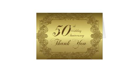 Wedding Anniversary Note To by 50th Wedding Anniversary Thank You Note Card Zazzle