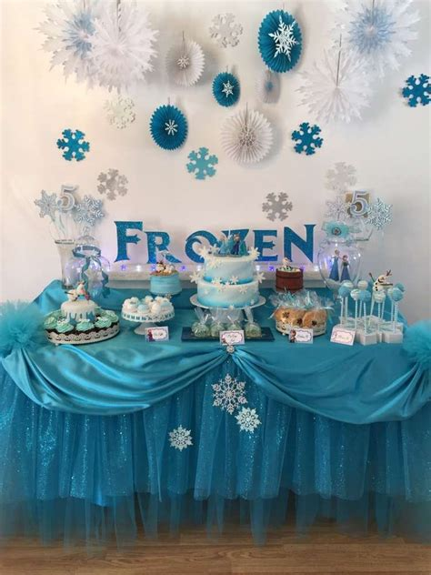 frozen decorations ideas frozen disney birthday ideas dessert table