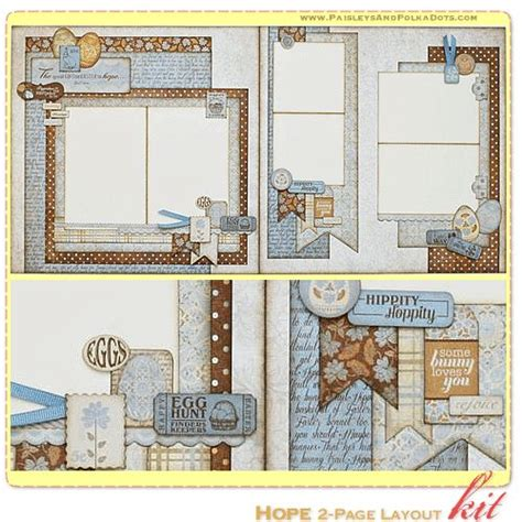 scrapbook layout four photos hope scrapbook page kit layout with instructions
