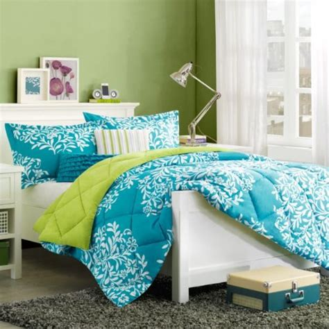 green and blue comforters total fab turquoise blue and lime green bedding sets
