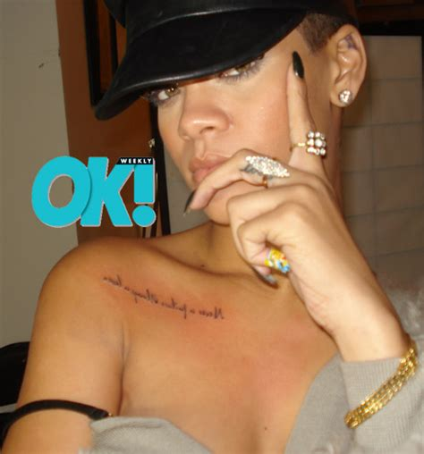 rihanna breast tattoo rihanna gets on chest entertainment rundown