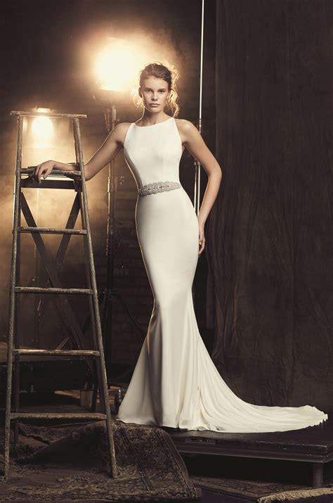 Wedding Style Dress by Fitted Cr 234 Pe Wedding Dress Style 2090 Mikaella Bridal