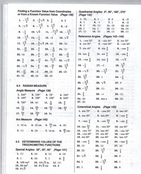 Algebra 2 Worksheets Answers by Algebra Ii Trig Worksheet Answer Mhshs Wiki