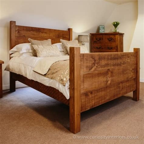 Chunky Bedroom Furniture Devonshire Plank Bed Rustic Wood Beds From Curiosity Interiors
