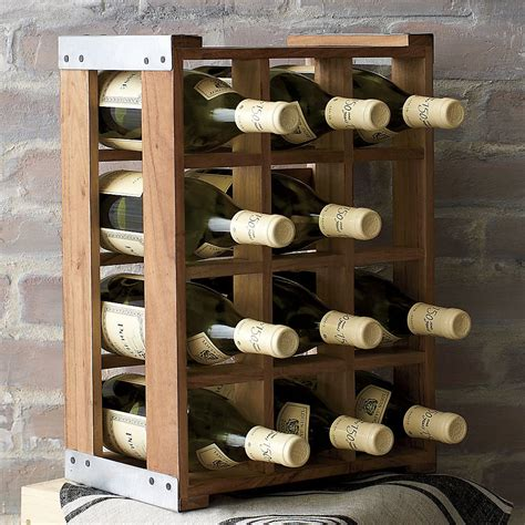rustic acacia wood crate wine racks the green