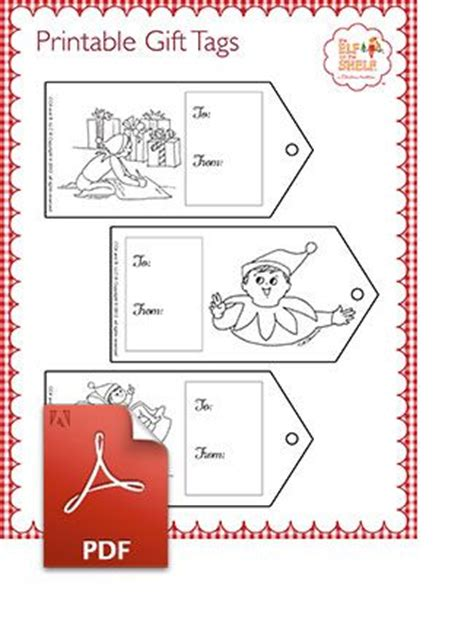 printable elf on the shelf gift tags trees shelves and colors on pinterest