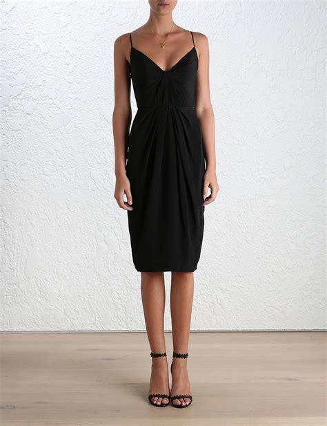 ebay zimmermann zimmermann silk folded midi dress evening cocktail black