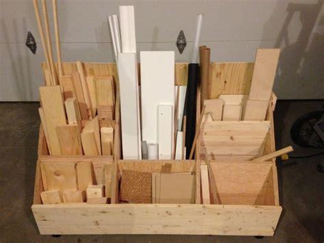 for the workshop material storage on pinterest lumber storage lumber storage cart plans google search garage