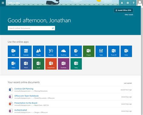 Home Page by Introducing A New Home Page Experience For Office 365