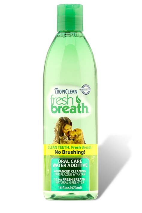 water additive for breath fresh breath water additive tropiclean pet products for dogs and cats