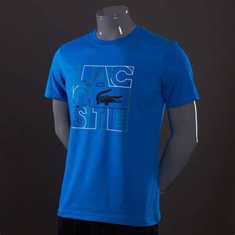 lacoste large logo croc  shirt mens select clothing royal