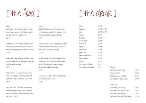 restaurant menu templates free from serif