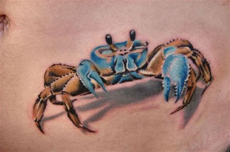 crab tattoo 35 cancer crab tattoos
