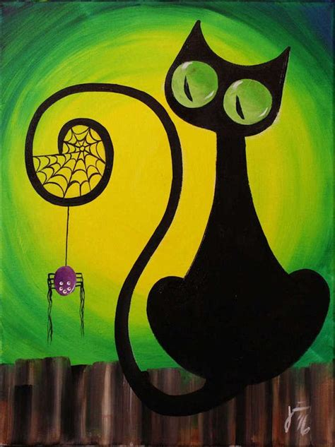 easy cat painting ideas 30 scary drawing ideas for entertainmentmesh