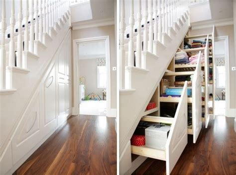 Stair Storage Closet by 11 Ways To Organize Your Stairs Organizing Made