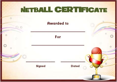 20 netball certificates very professional certificates to