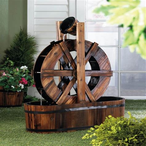 water wheel pattern woodworking plans 18 amazing wooden fountains you need to see