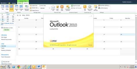 Add Sharepoint Calendar To Outlook Integrate Sharepoint Calendar To Ms Outlook