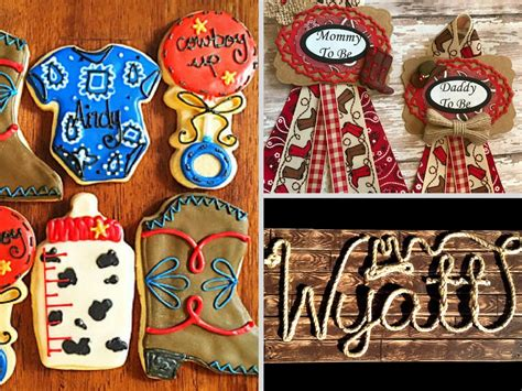 western themed baby shower decorations  party favors