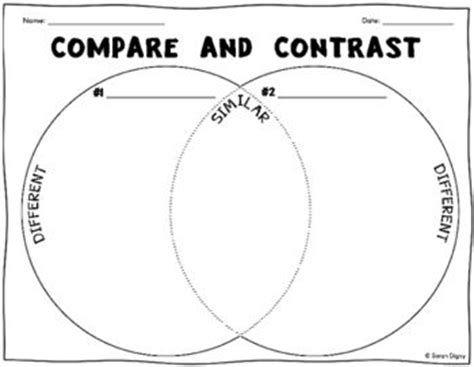 biography compare and contrast worksheet download compare and contrast venn diagram worksheets free