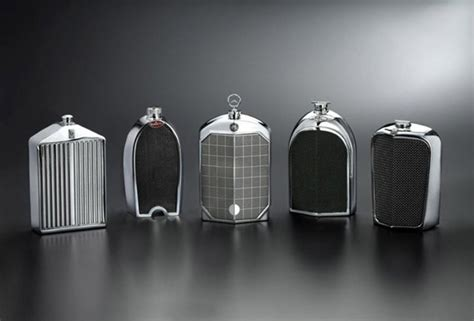 vintage bentley grill designer flasks styled after car grilles