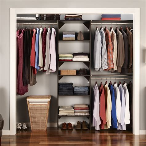 storage closet organizers will help to forget about mess closetmaid suitesymphony closet organizer starter kit
