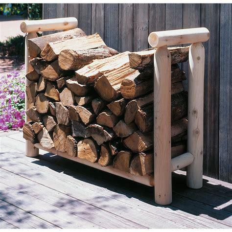 Rustic Firewood Rack by Rustic Cedar Furniture Company 174 4 Cedar Log Style Firewood Rack 107407 Patio