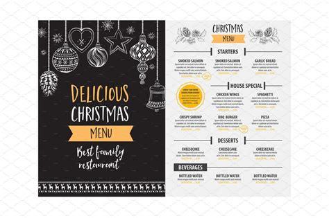 christmas themes menu 30 best food drink menu templates design shack