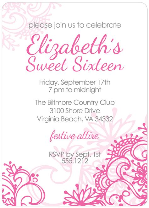 sweet 16 invitation templates free free printable sweet 16 birthday invitations