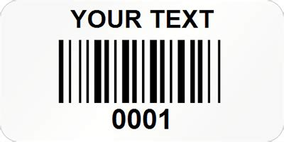 barcode label template custom rectangular economy barcode labels