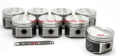 speed protrw ford ci fe forged flat top  barrel pistonsmoly ring kit  ebay