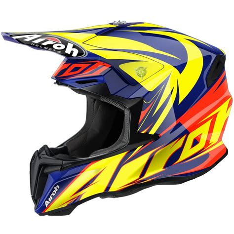 airoh motocross helmets uk airoh twist motocross helmet evil blue motorcycle