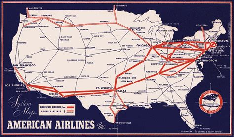 aa route map airlines route map images