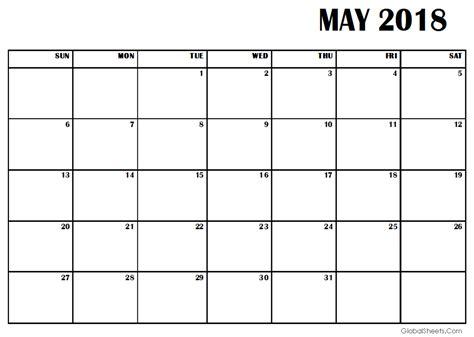 free calendar template may 2018 may 2018 calendar template printable