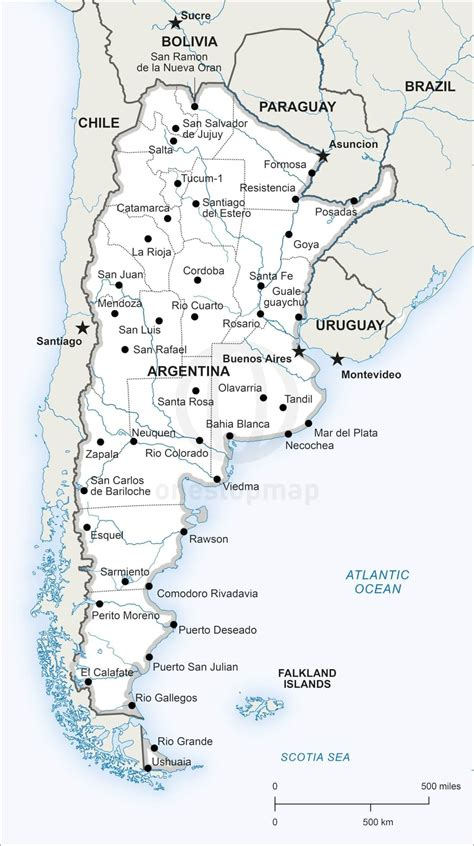 printable map argentina vector map of argentina political one stop map