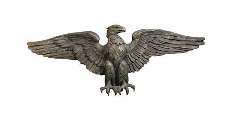 Aqila 2in 1 a gold and brown painted fibreglass model of a eagle