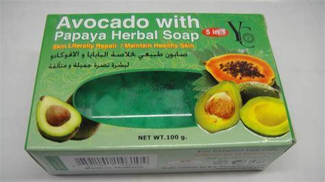 Ristra Med Soap 100 Gr yc avocado with papaya herbal soap 100 gr