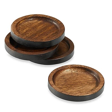 bed bath and beyond coasters noritake 174 kona wood coasters set of 4 bed bath beyond