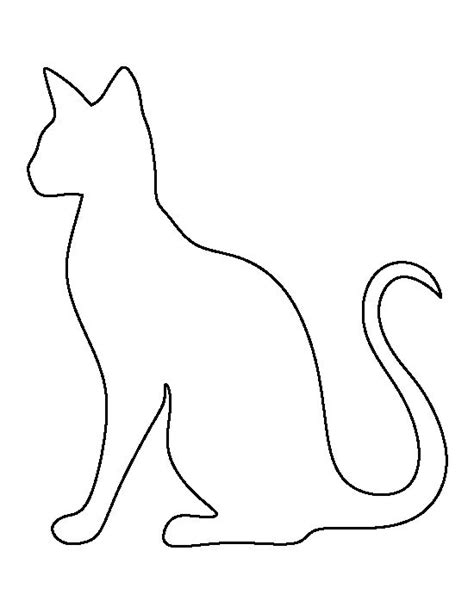 cat template siamese cat pattern use the printable outline for crafts