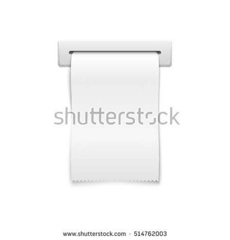 shopping receipt template sales printed receipt shopping paper bill stock vector