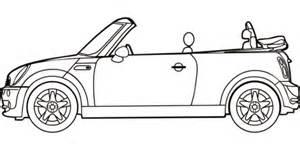 Ausmalbild Mini Cooper Cabrio  Ausmalbilder Kostenlos Zum Ausdrucken sketch template