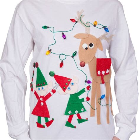 ugly christmas sweater light kit ugly christmas sweater kit funny ideas for ugly sweaters