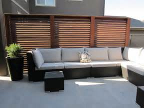 Livingroom Calgary slatted privacy screen panels traditional patio