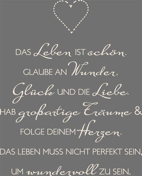 Spruch Aufkleber by Wandtattoo Aufkleber Sch 246 Ne Spr 252 Che F 252 R Wohnzimmer Spruch