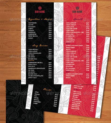 bar menu template 27 free psd ai eps vector format